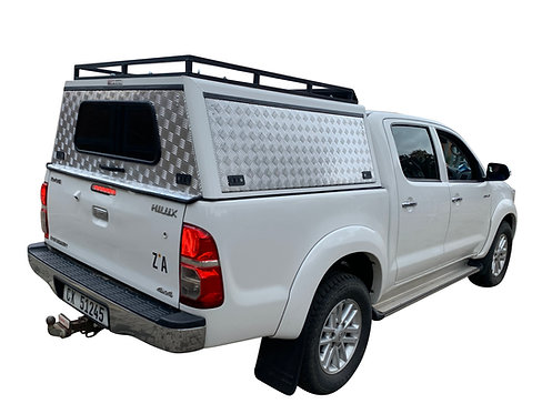 Entry Level Plus Toyota Hilux Vigo DC Canopy + Slat Rack - GZ Aluminium