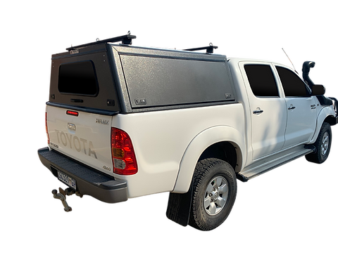 Mid Range Toyota Hilux Vigo DC Canopy + Load Bars - GZ Aluminium Canopies