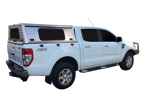 Entry Level Ford Ranger Double Cab Canopy + Side Windows - GZ Aluminium Canopies