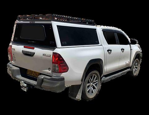 Mid Range Toyota Hilux Revo DC Canopy + Slat Rack - GZ Aluminium Canopie