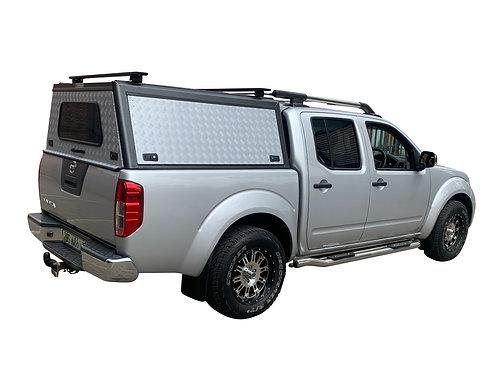 Mid Range Nissan Navara DC Canopy + Load Bars - GZ Aluminium Canopies