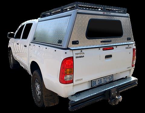 Entry Level Level Toyota Hilux Vigo DC Canopy + Slat Rack - GZ Aluminium Canopi