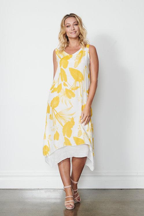 Dress -2 Layer Printed - Sun