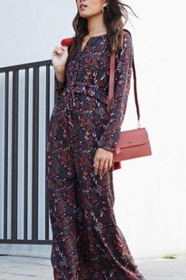 Fox Print Maxi Dress