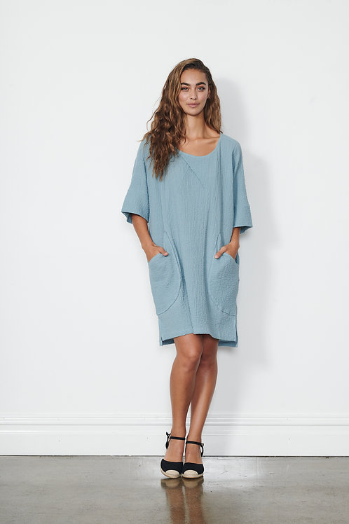 Dress - Textured w/ Pockets