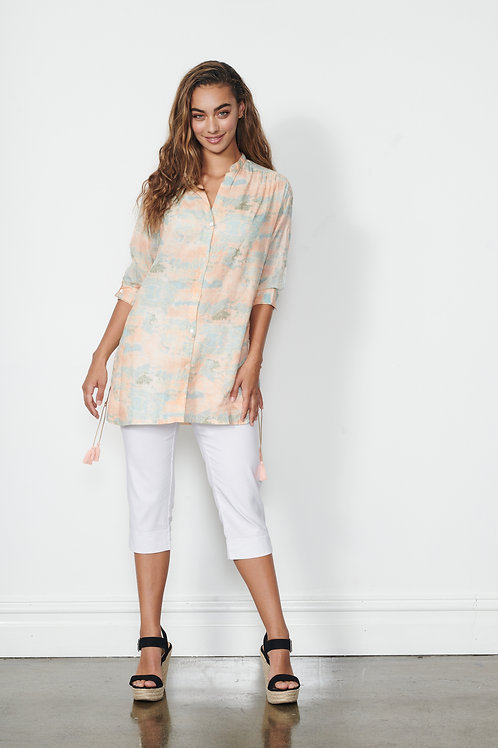 Shirt - Printed w/Lace Sides