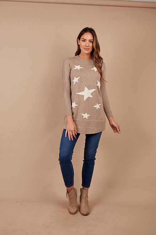 Tunic - Knitted Contrast Stars