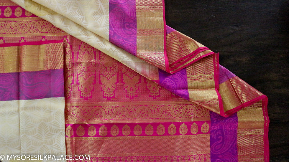 White and Pink saree