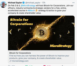 Bitcoin for Corporations - MicroStrategy to share playbook