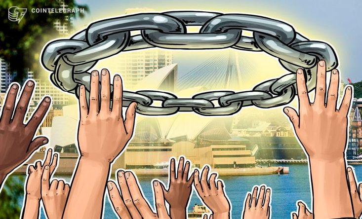 Are these hands reaching for the freedom of blockchain or just the chains?