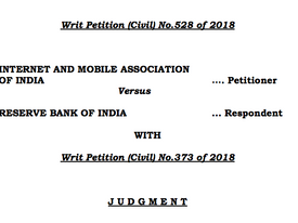 Reserve Bank of India - Supreme Court Judgement