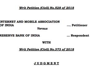 Reserve Bank of India - Supreme Court Judgement