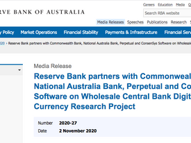 Reserve Bank of Australia + Ethereum, what's not to like?