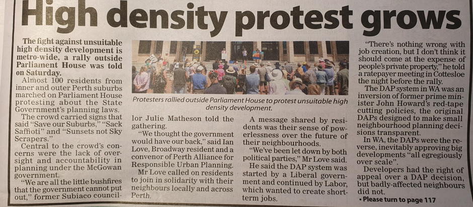 High Density Protest Grows
