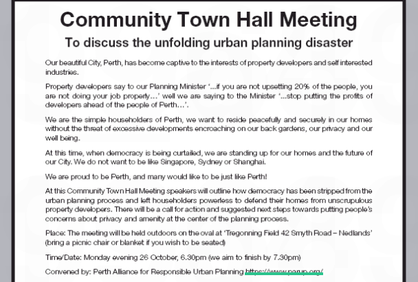Community Town Hall Meeting