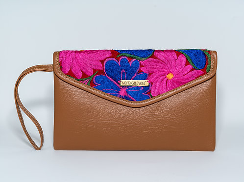 Amorcito Clutch [Caramel + Pink + Blue]