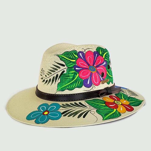 Salma Hat - Floral [Side]