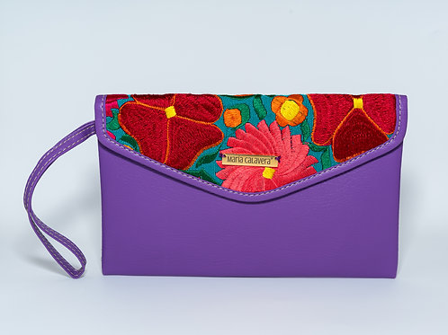 Amorcito Clutch [Lilac + Red + Coral]