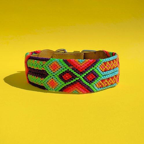 YO'ON Joy - [Artisanal Handwoven Leather Dog Collar] M