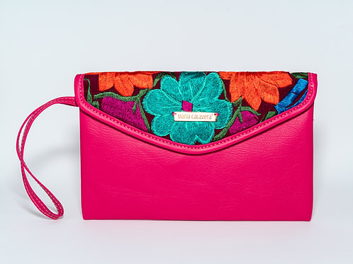 Amorcito Clutch [Pink + Turquoise + Orange]