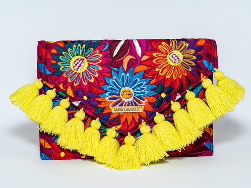 Frida Clutch [Neon Yellow + Pink]