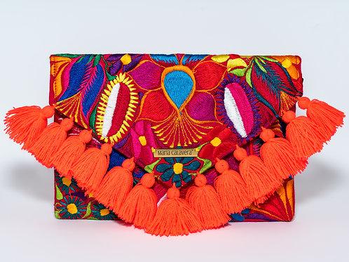 Frida Clutch [Neon Orange + Red]