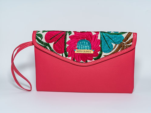 Amorcito Clutch [Pink + Turquoise]
