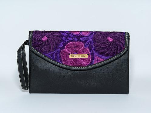 Amorcito Clutch [Black + Purple]