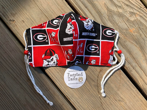 University of Georgia Adjustable Fabric Face Mask