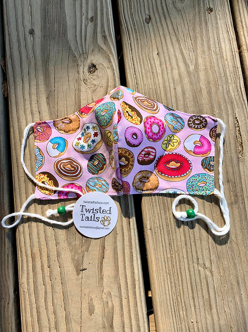 Adjustable Doughnut Fabric Face Mask
