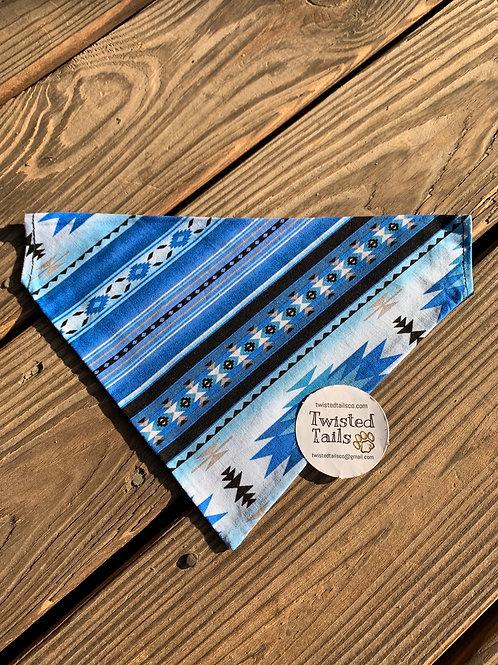 Blue aztec bandana or bowtie