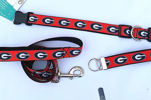 Red UGA collar, leash, or keyfob