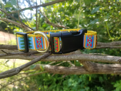 Yellow Tribal Collar, leash, or keyfob
