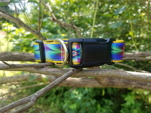 Tye-dye collar, leash, or key fob