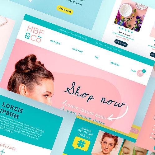 Create a unique design for your website