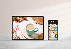 Instagram design and photos