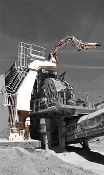 Horizontal impact crusher boom systems.p