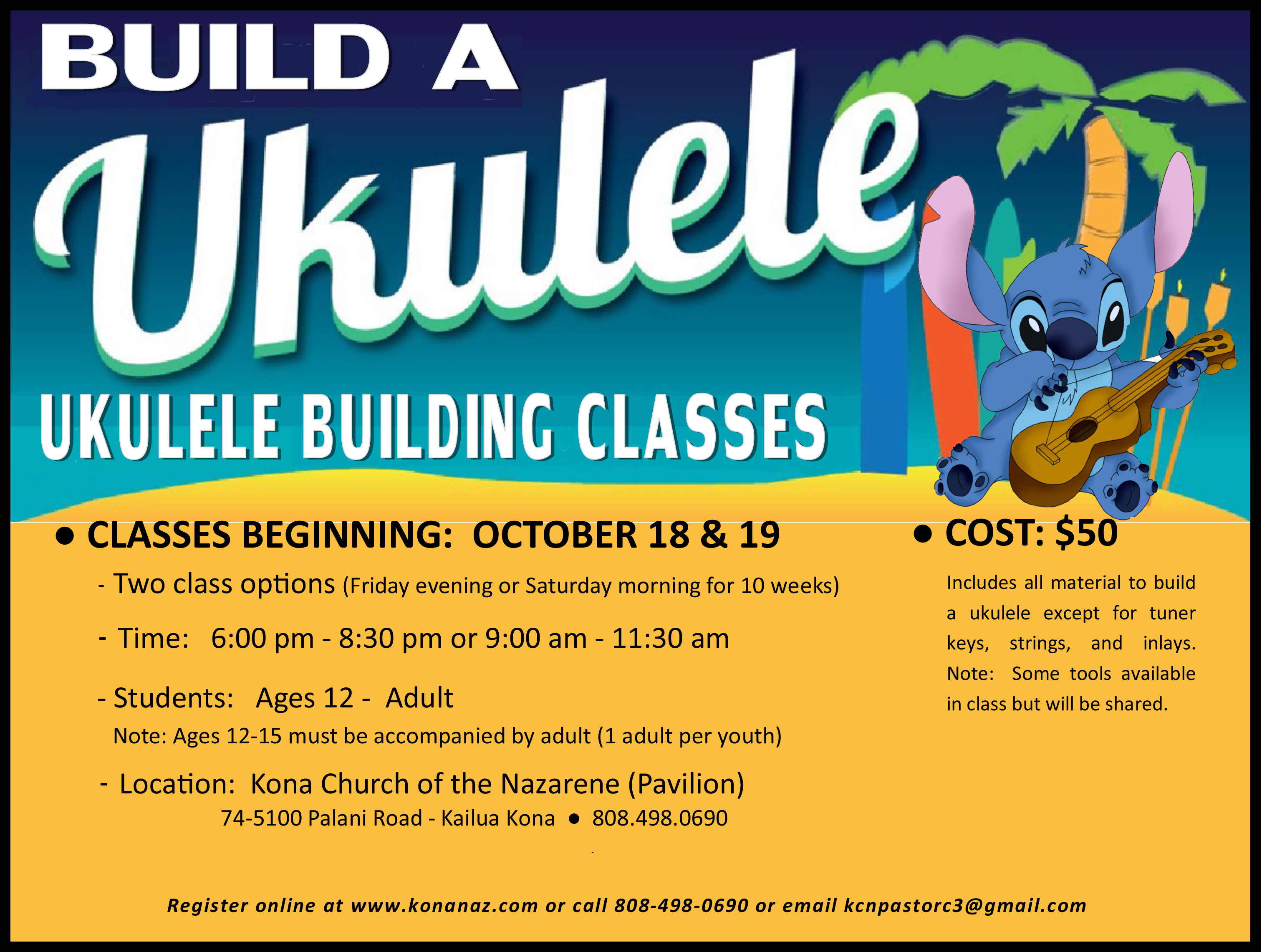 Ukulele Building Class