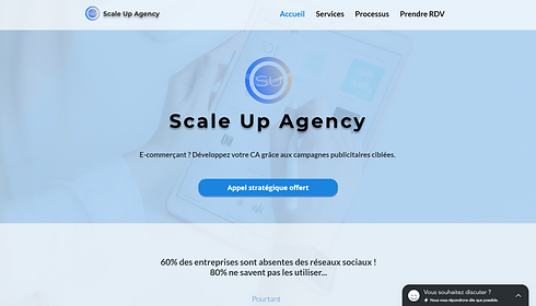 Scale Up Agency - Tunnel de vente et e-commerce