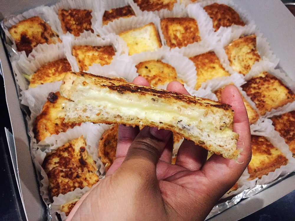 Bite Sized Grilled Cheese Sandwich