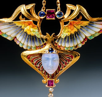AN ART NOUVEAU NIKE PENDANT BY PHILIPPE WOLFERS. BRUSSELS, CIRCA 1902.