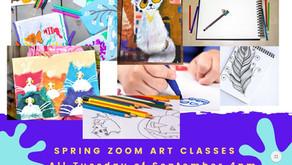 Online Art Classes via Zoom