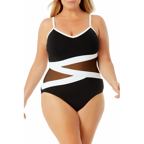 Anne Cole Hot Mesh One Piece