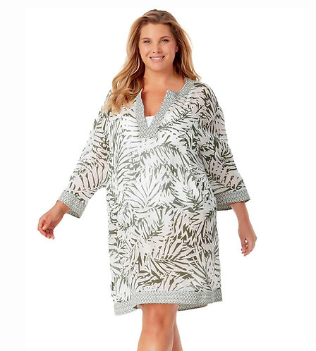 Anne Cole Contrast Band Tunic
