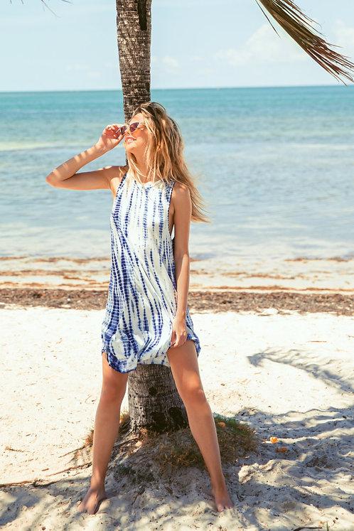 KOY Resort K2024 Blue Beach Twist Back Dress