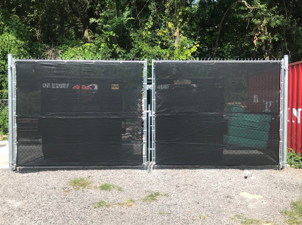 Chain Link Mesh Dumpster Enclosure