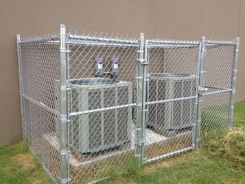 Chain Link A/C Unit Enclosure