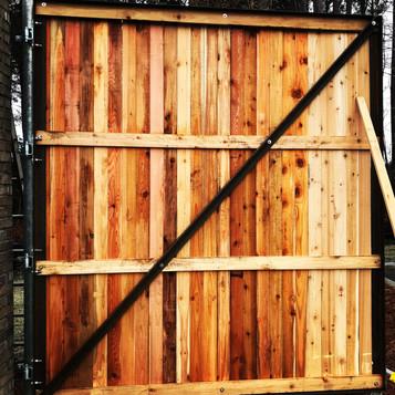 Metal Gate Frame Wood Gate