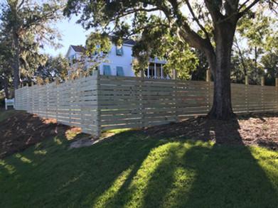 Horizontal Board Wood Fence