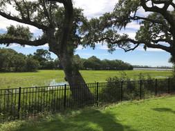 Bay Breeze Style Black Aluminum Fence